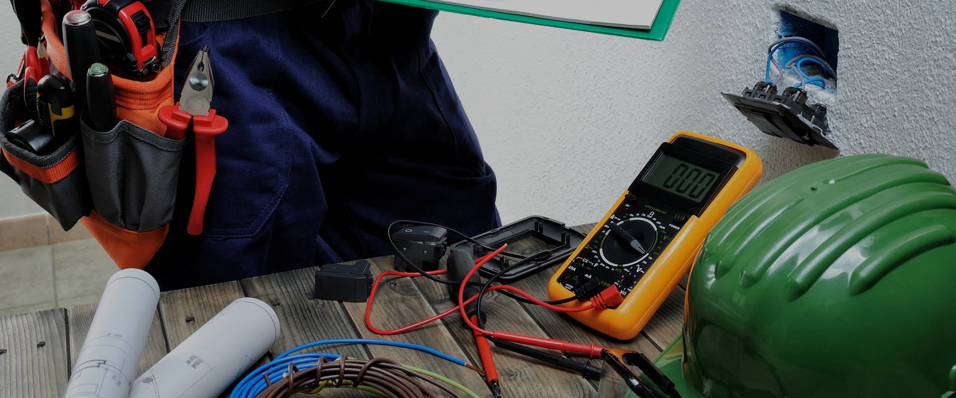 Electrical Company Testing Outlet